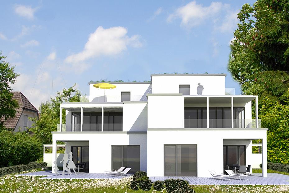 kompakter neubau doppelhaus in l hne projekte architekten b kamp. Black Bedroom Furniture Sets. Home Design Ideas